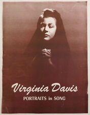 Virginia Davis rare classical handbill Sf Century Club April 16 vocals broadway