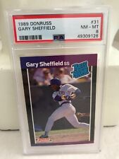 1989 Donruss Gary Sheffield Brewers RC Rated Rookie PSA MLB baseball card