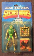 "1984 Marvel Comics SECRET WARS Doctor Doom MOC C-6.5 Mattel 4"" Secret Shield"