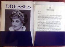 PRINCESS DIANA CHRISTIE'S DRESS AUCTION 1997 PROMOTIONAL FOLDER VERY RARE