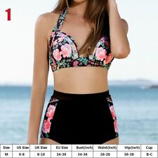 Womens High Waist Bikini Set Push up Swimsuit Bathing Suit Swimwear Beach Wear 1-m