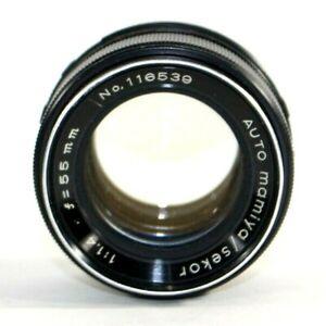 Vintage Auto Mamiya Sekor 1:1.4 f=55mm No. 64444 Camera Lens Made in Japan AS IS
