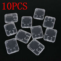 10PCS Transparent Case Holder Box Storage Plastic Standard SD SDHC Memory Card