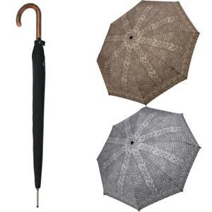 Knirps Long AC Regenschirm Holzgriff RundhakengriffStockschirm