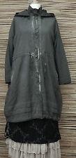 Lagenlook * KEKOO * magnifique à capuche 2 poches veste/manteau * anthracite * taille 42-44