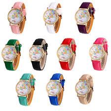 Fashion Womens Watch Butterfly Pattern Leather Analog Quartz Vogue Wrist Watches