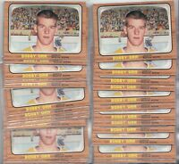 "1966-67 Topps Hockey # 35 Bobby Orr RC Rookie Reprint ""25 CARD LOT of Bobby Orr"""