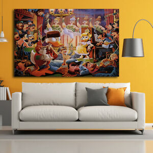 Print Painting Home Wall Art Decor Disney Donald Duck Clubs on Canvas 20x30