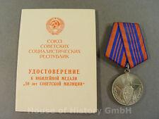 66860, Medaille 50 Jahre sowjetische Miliz, Orden und Urkunde