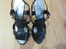 Nine West Black Leather Snakeskin print heels - US 9/ UK 7