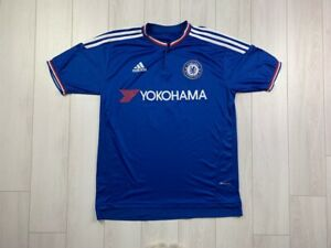 CHELSEA HOME FOOTBALL SHIRT 2015/2016 #10 HAZARD MEN'S JERSEY BLUE ADIDAS XL