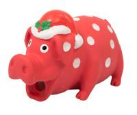 "Good Boy Christmas Xmas Latex Festive Pig Grunting Dog Toy 6.5"" NEW STYLE"