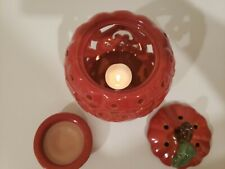 Pumpkin Tart Warmer Heated with Tealight Candle Lace Like Gourd Very Pretty