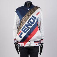 FENDI x FILA 3390$ Reversible Quilted Printed Silk-Satin Bomber Jacket