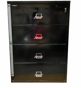 """FireKing File Cabinet Lateral Legal 37-1/2"""" 4 Drawer Fireproof Water & Impact"""