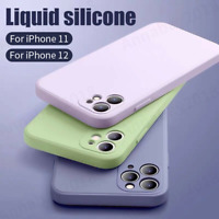 Liquid Silicone Case Camera Lens Cover For iPhone 12 11 Pro XS Max XR X 8 7 SE