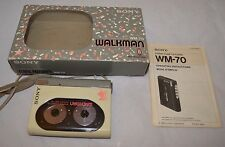 Vintage Sony WM-70 Walkman With Box- NOT WORKING