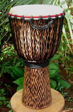 24x12 Rough Carved Djembe Bongo Hand Drum