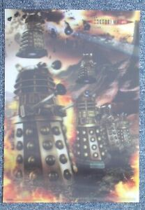 Dr Doctor Who Stunning DALEKS Pyramid 42 x 30cm Lenticular Poster - New