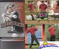2001 Upper Deck Tiger Woods 25 card ROOKIE Tin Set+Special GRAND SLAM JUMBO !