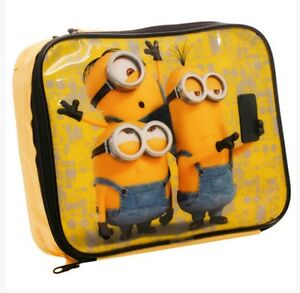 MINIONS DESPICABLE ME INSULATED LUNCH BAG CHILDS KIDS NURSERY SCHOOL BNWT