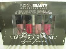 FUSION BEAUTY OBJECTS OF DESIRE 4 PIECE LIPFUSION INFATUATION SET READ DETAILS