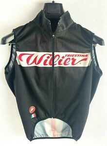 CASTELLI Triestina Wilier Lightweight Cycling Vest Gilet Size S Made In Hungary