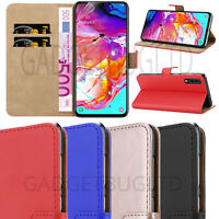 CASE FOR SAMSUNG GALAXY A70 REAL GENUINE LEATHER SHOCKPROOF WALLET FLIP COVER