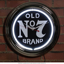 Jack Daniels Old No. 7 Wall Neon Clock - Game Room - Bar - Tennessee Whiskey