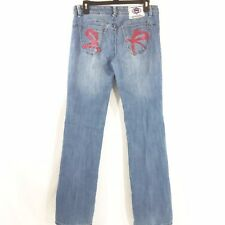 615d6cc534c Ecko Red Womens Jeans 5 6 Blue Denim Straight Leg Pants Juniors 32x32 2%