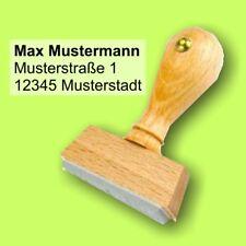10 x 55 mm Zentriert Wunschtext S01 Holzstempel Stempel bis 3 Zeilen S1F Grün