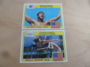1983 Topps Greatest Olympians complete card set Cassius Clay Bruce Jenner