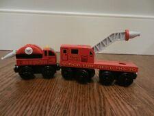 Thomas & Friends Wooden Train Sodor Fire Trucks Hose 3 pcs 2003