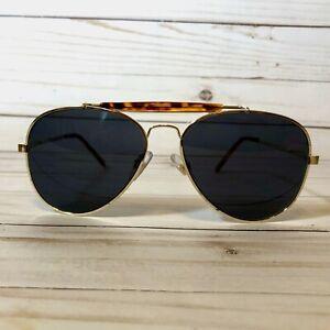 Vintage 1990s Bausch & Lomb Outlook Sunglasses Aviator Gold Tone Frame Tortoise