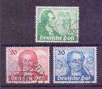 Berlin Goethe Briefmarken 1949 - MiNr 61/63 gestempelt - Michel 180,00 € (731)
