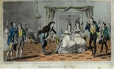 "Heath's  ""TOM & BOB AT A REAL SWELL PARTY"" Hand-Colored Sketch - 1822"
