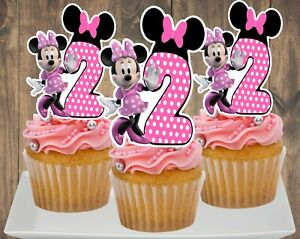 Minnie Mouse (Pink) Cupcake Topper (12pcs)