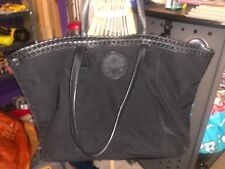 Tory Burch Large Black Nylon Logo Tote Shoulder Bag
