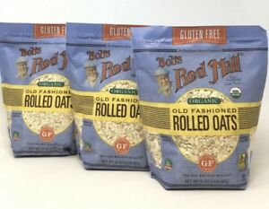 3 Bags Bob's Red Mill ORGANIC Old Fashioned Rolled Oats, GLUTEN FREE 32oz Each