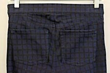 SPANX By Sara Blakely Size M Womens Blue & Black Square Print Jeggings NWT $98
