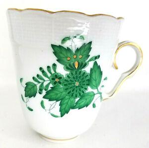 Herend Chinese Bouquet Apponyi Fleur Vert Trembleuse Cup Saucer # 713 green