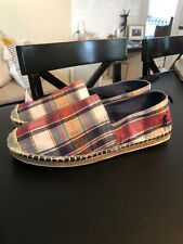 New Polo Ralph Lauren Men's Barron Plaid Slip-On Shoes multiple sizes