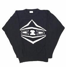 Vintage Bogner Men Small Ski Sweater Black Off White