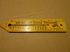 Vintage Wood New Holland Thermometer