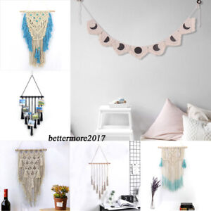 Bohemian Macrame Wall Hanging Hand Woven Tapestry Wedding Party Home Room Decor