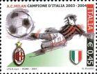 # ITALIA ITALY - 2004 - Milan Winner - Calcio Football Soccer Sport Stamp MNH