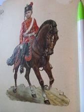 wunderschöne alte XL Präge Oblate Glanzbild Husar Reiter um 1890 ca. 16,5 x 11