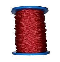 Flechtleine 5mm rot 100m Rolle, Tauwerk, PES, Reepschnur, Bruchlast 400kg