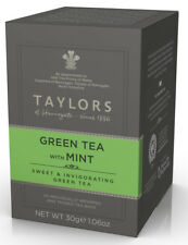 Taylors of Harrogate Green Tea with Mint - 20 Wrapped & Tagged Bags