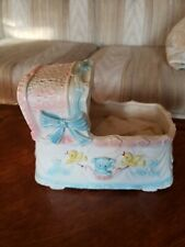 Sankyo Inarko Vintage Antique Collectible Doll Bed Crib Music Box Works Japan